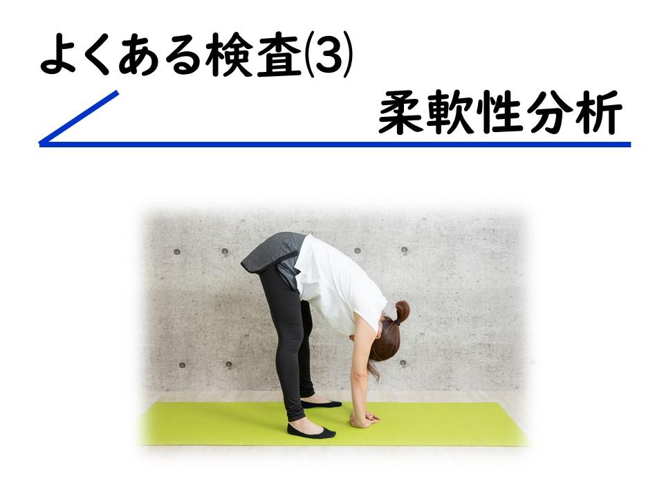よくある検査⑶柔軟性分析 三田市・神戸市・西宮市から多数ご来院の産後骨盤矯正mamaNEXT